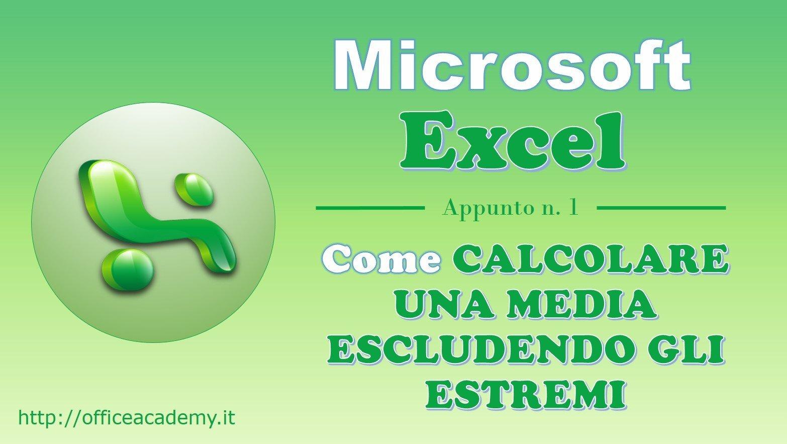 #Excel - Come calcolare una media escludendo il valore minimo e il valore massimo 1