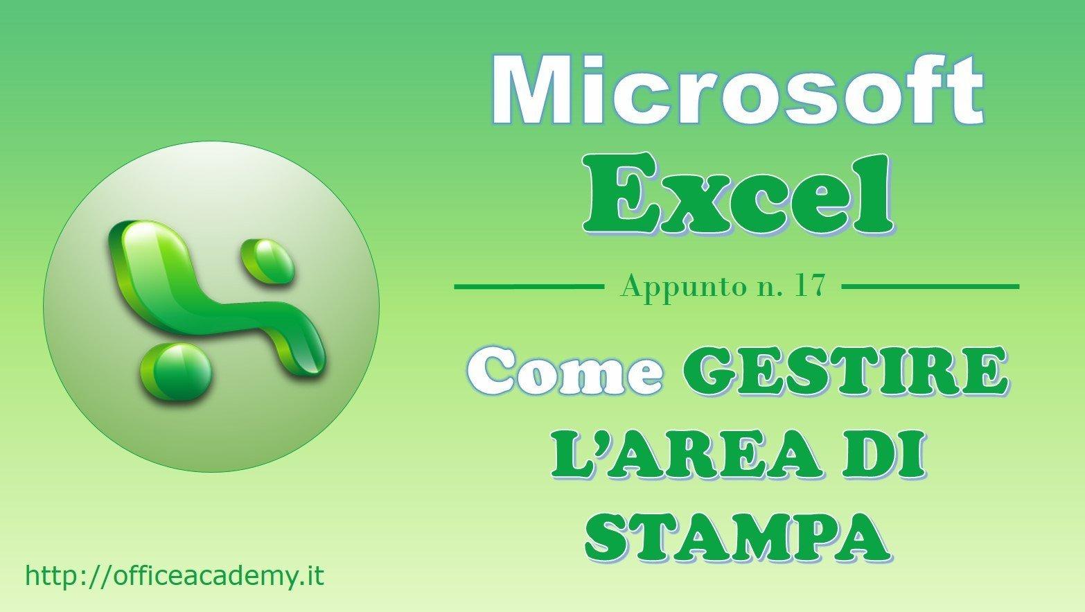 #Excel - Come gestire l'area di stampa [VBA] 1