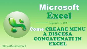 Come creare menu a discesa concatenati in Excel
